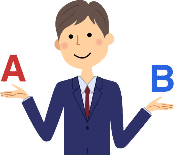 実業家、選択 - ビジネスマン 日本人点のイラスト素材/クリップアート素材/マンガ素材/アイコン素材