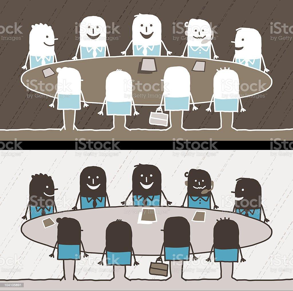 businessmen & meeting royalty-free stock vector art