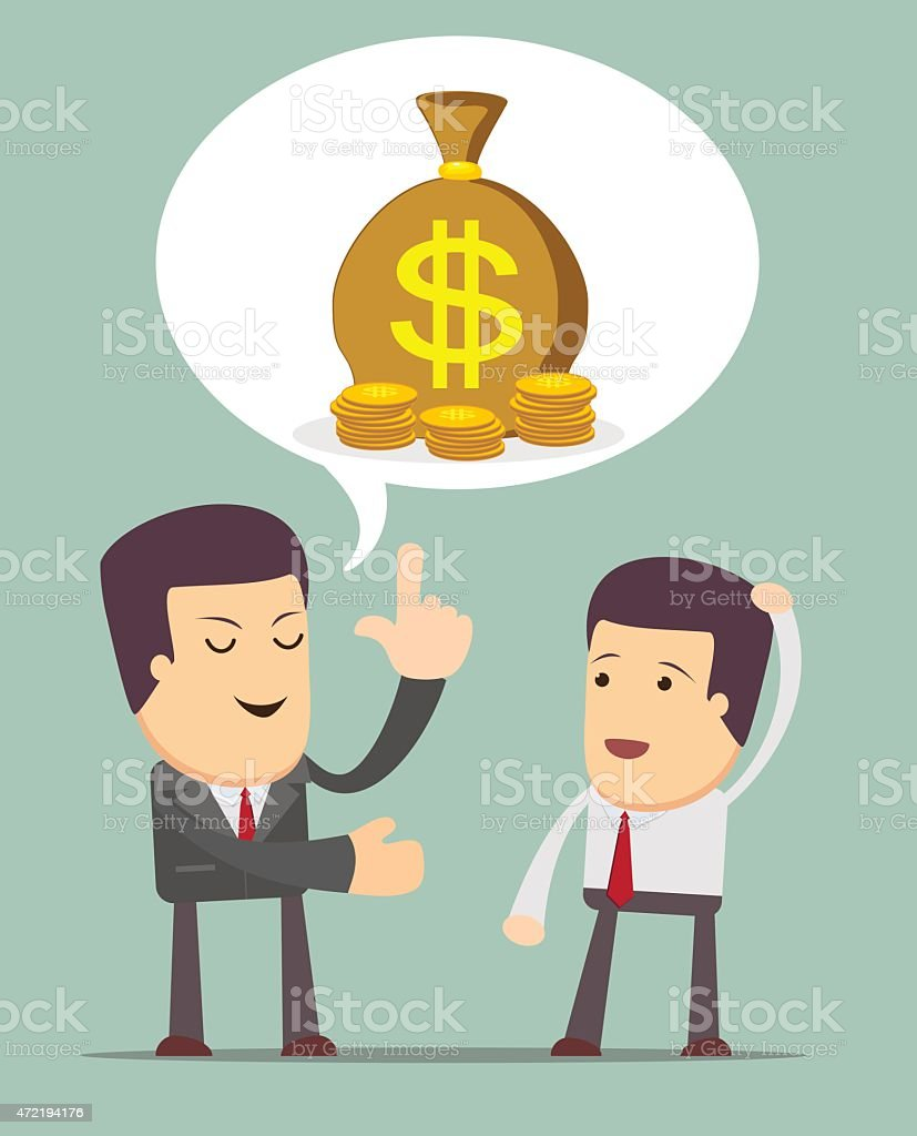 Businessmen Discussion vector art illustration