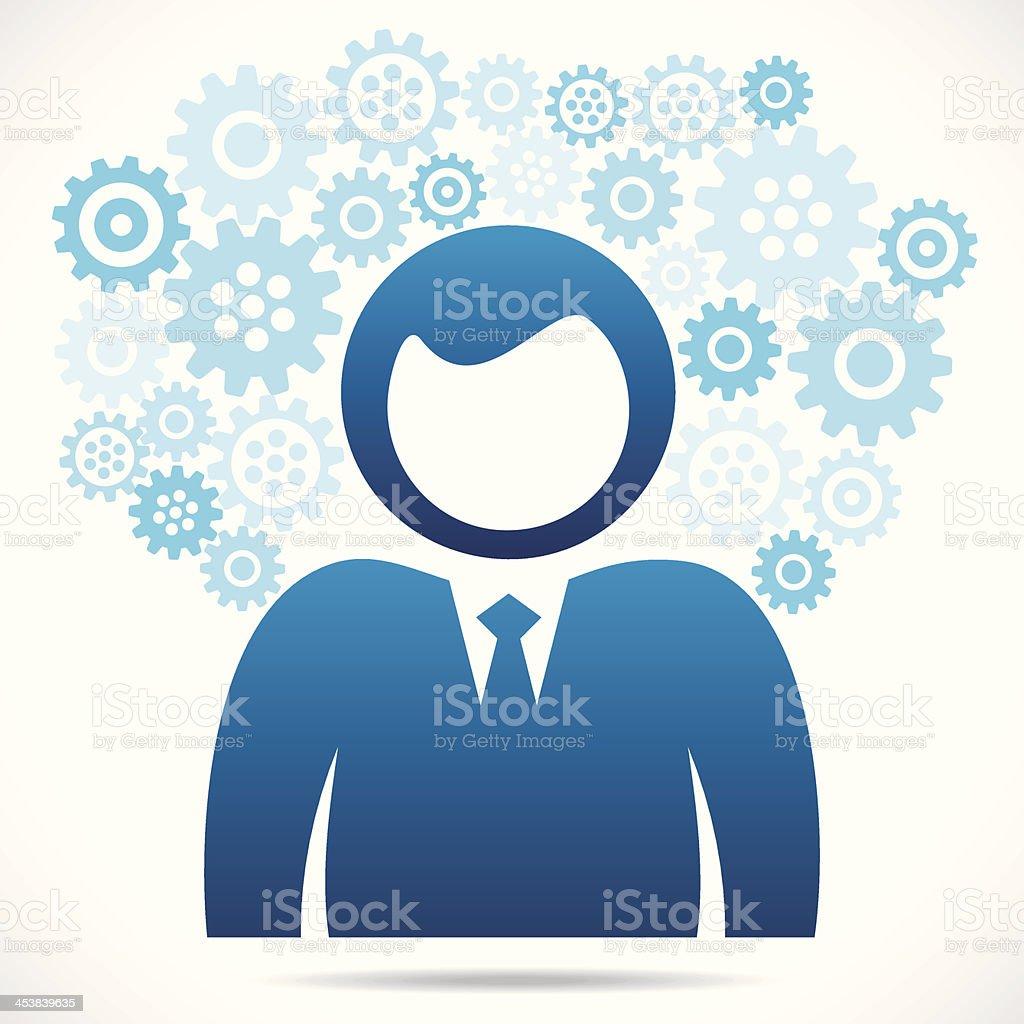 businessmen gear background royalty-free stock vector art
