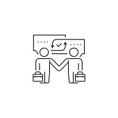 Businessmen handshake icon,vector illustration. EPS 10.