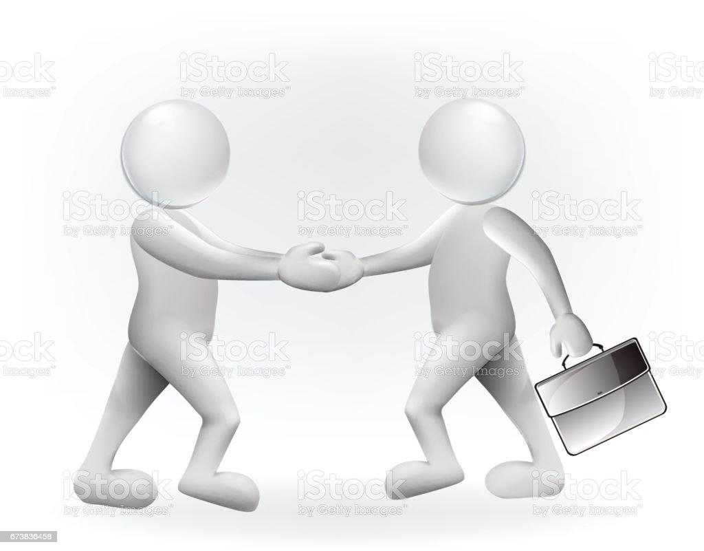Symbole de businessmen handshaking vector image symbole de businessmen handshaking vector image – cliparts vectoriels et plus d'images de abstrait libre de droits