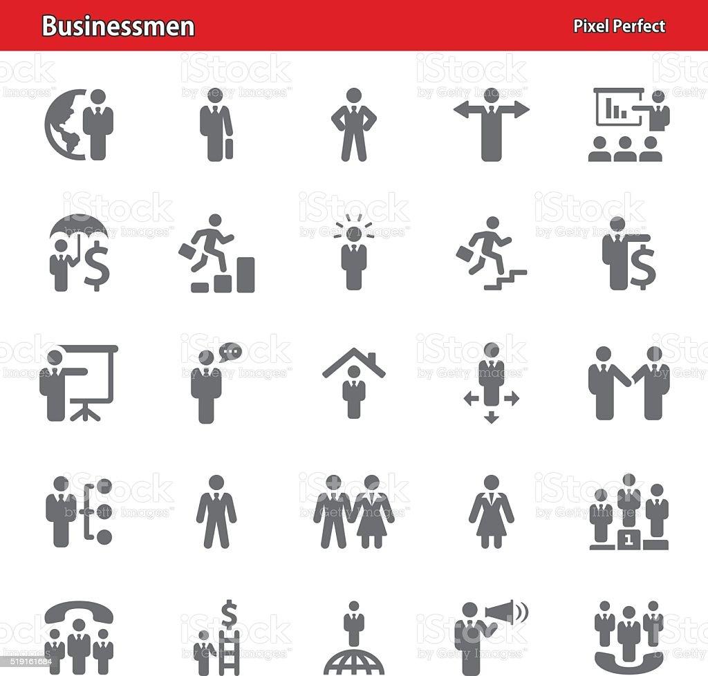 Hommes d'affaires icônes-Série 4 - Illustration vectorielle