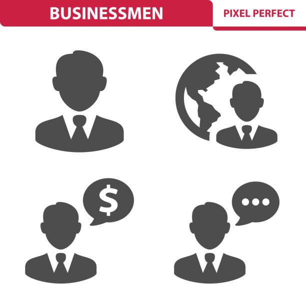 businessmen icons - travel agent stock illustrations, clip art, cartoons, & icons