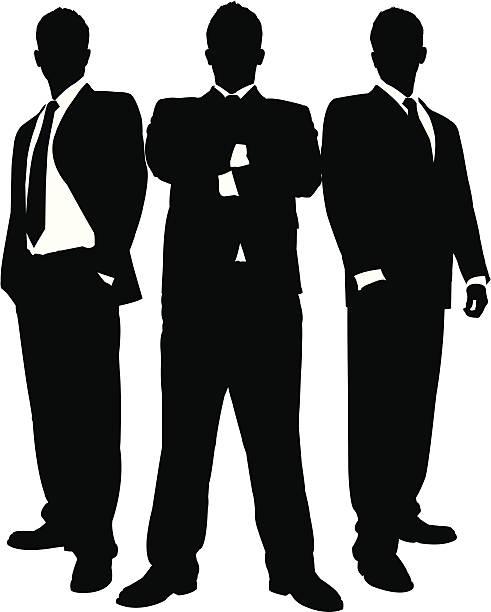 사업가 블랙 시리즈 - 수트 stock illustrations