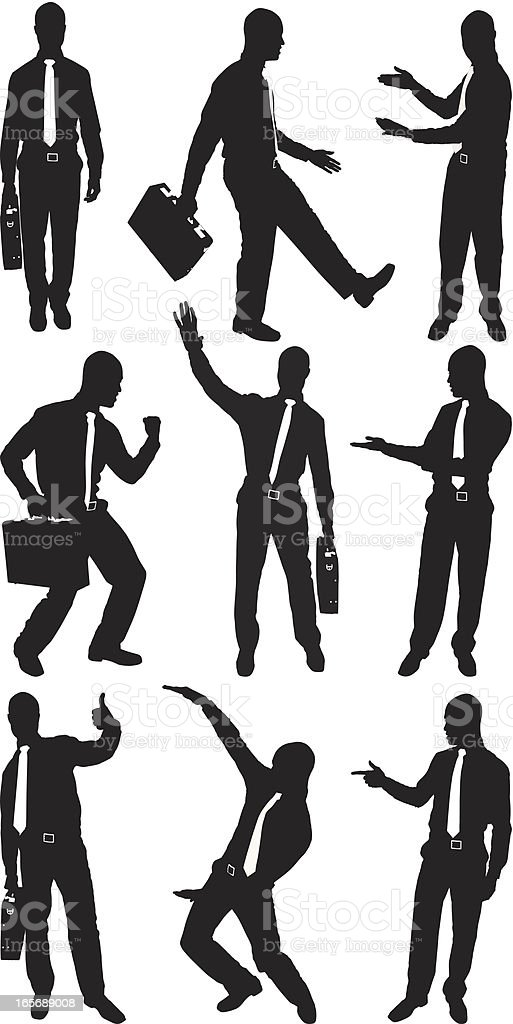 Businessmen in different postures royalty-free businessmen in different postures stock vector art & more images of achievement