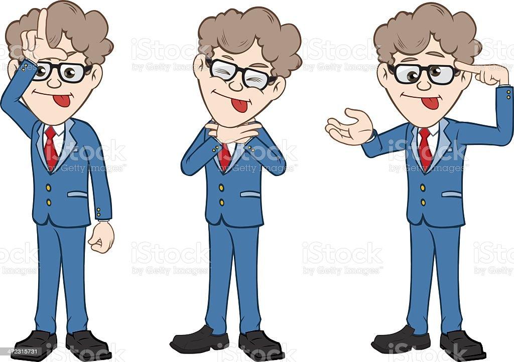 Businessmen Lunatic Illustration royalty-free stock vector art