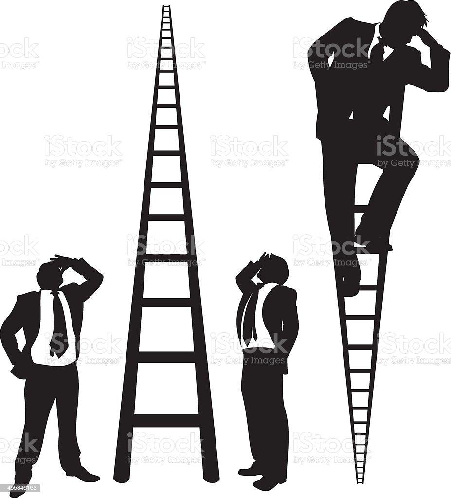 Geschäftsleute auf Leitern – Vektorgrafik