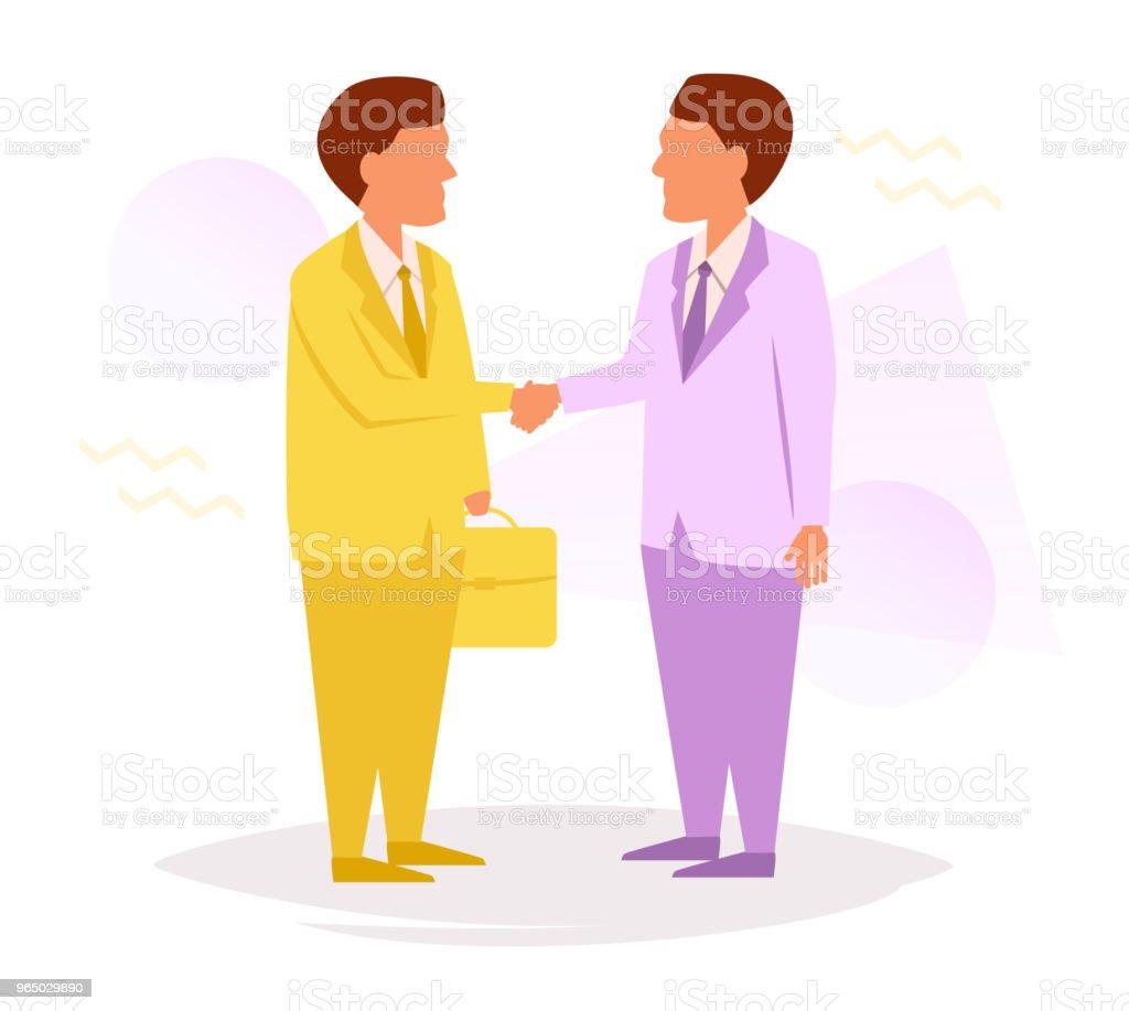 Businessmen shake hands royalty-free businessmen shake hands stock vector art & more images of adult