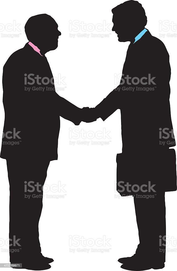 businessmen shaking hands royalty-free stock vector art