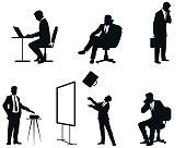 Businessmen silhouettes