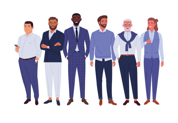 ilustraciones, imágenes clip art, dibujos animados e iconos de stock de equipo de hombres de negocios. - black people