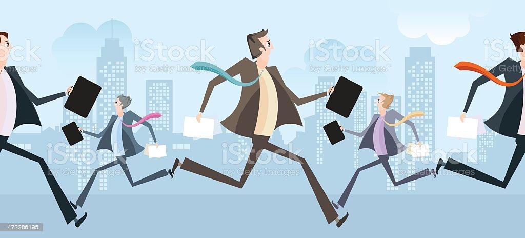 Businessmen. vector art illustration