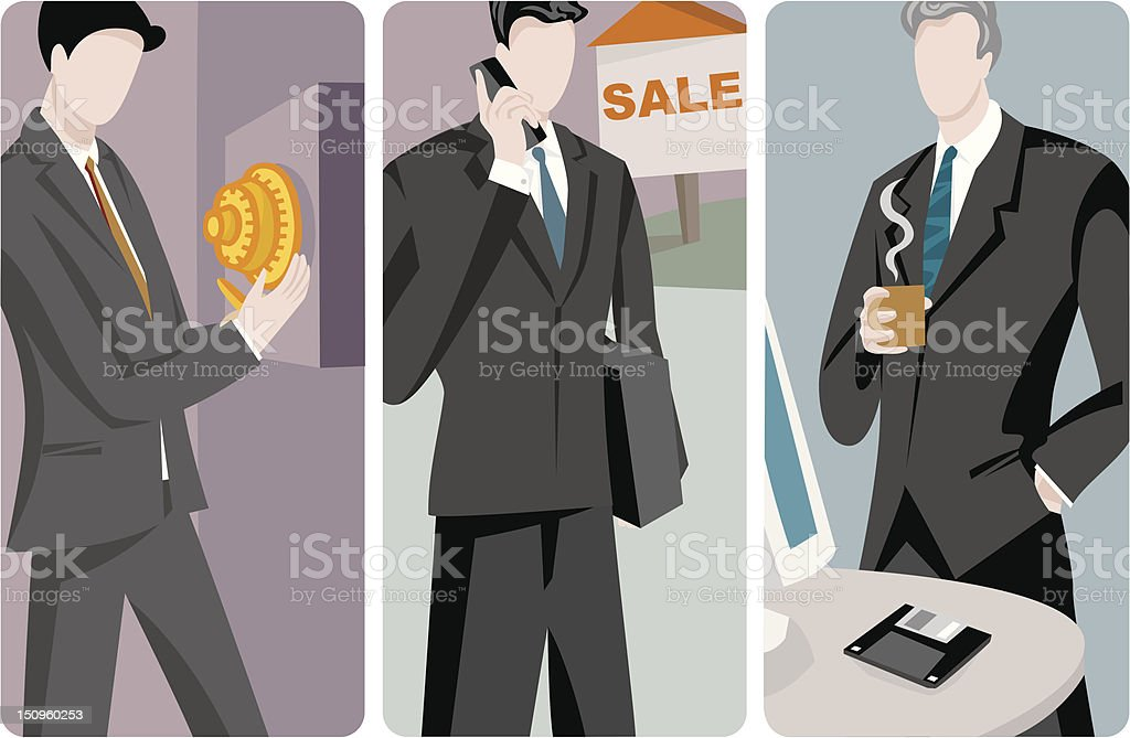 Businessmen Vector Illustrations Series royalty-free businessmen vector illustrations series stock vector art & more images of administrator