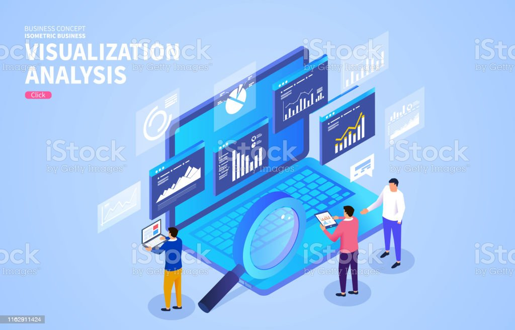 Businessmens Analysis Of Web Page And Data Interaction The ...