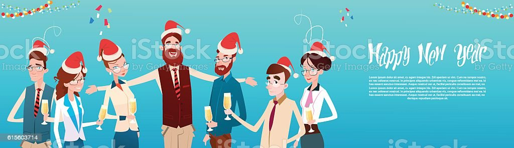09321e2a09fab Businesspeople Celebrate Merry Christmas And Happy New Year Office Business  royalty-free businesspeople celebrate merry