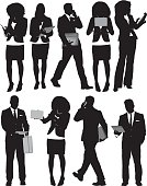 Businesspeople in various actions