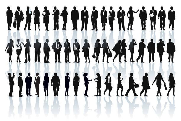 ilustrações, clipart, desenhos animados e ícones de silhuetas de empresários - business man