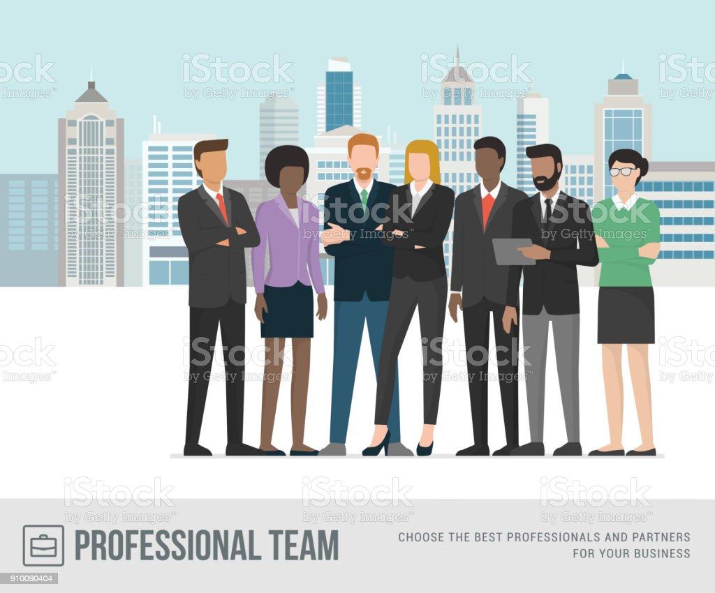 Geschäftsleuten stehen zusammen – Vektorgrafik