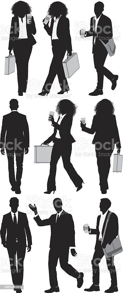 Businesspeople walking royalty-free businesspeople walking stock vector art & more images of adult