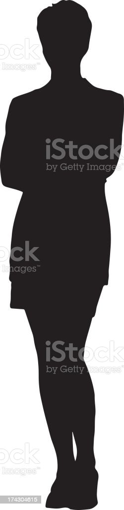 Businessperson Silhouette royalty-free stock vector art