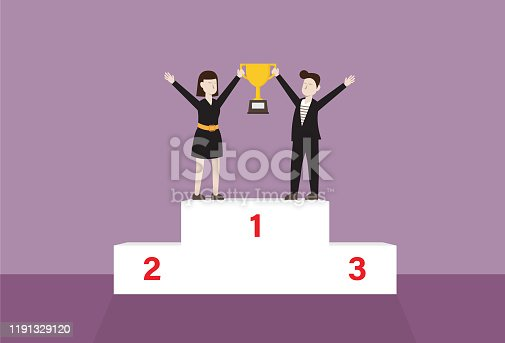 Success, Winning, Celebration, Trophy - Award, Achievement, Number 1, Symbol