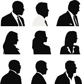 Profiles of professional business men and women.