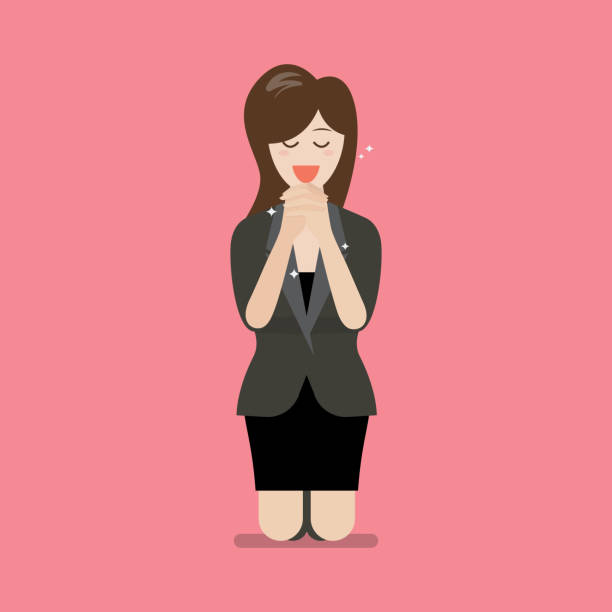 Best Praying Woman Illustrations, Royalty-Free Vector Graphics