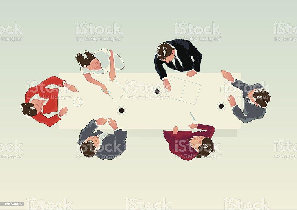 businessteam meeting – Vektorgrafik