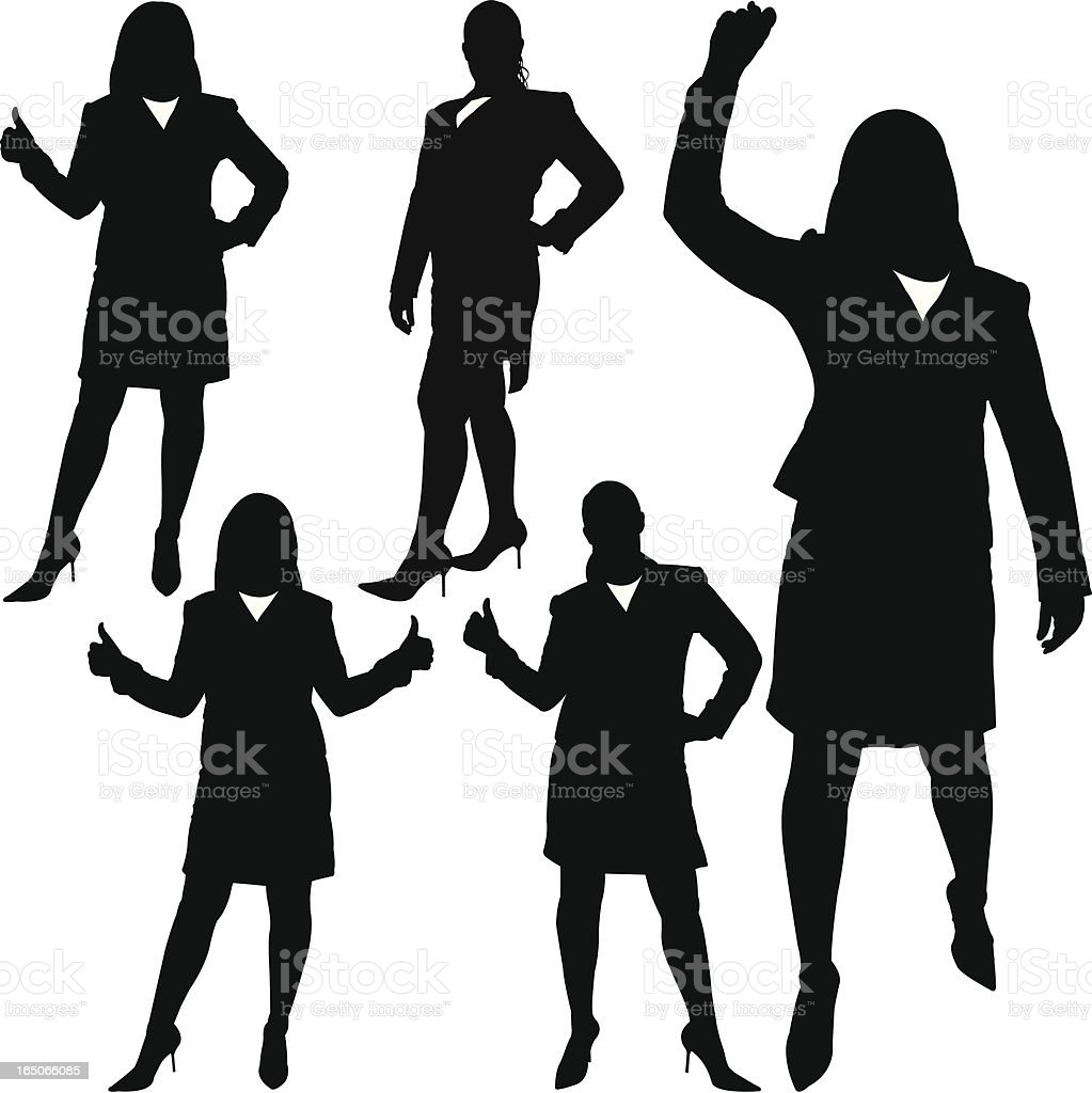 Businesswoman Achievement Series vector art illustration