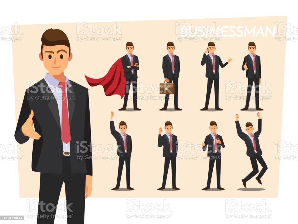 Femme d'affaires lors d'une présentation, personnage de bande dessinée illustration vectorielle. - Illustration vectorielle