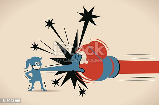 Blue Characters Full Length Vector art illustration.Copy Space.