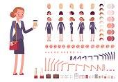 Businesswoman character creation set