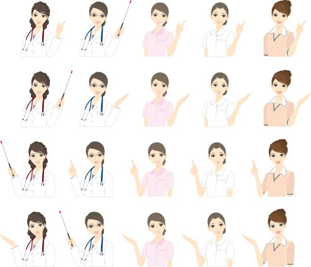 実業家/医師/看護師/式 - 受付係点のイラスト素材/クリップアート素材/マンガ素材/アイコン素材