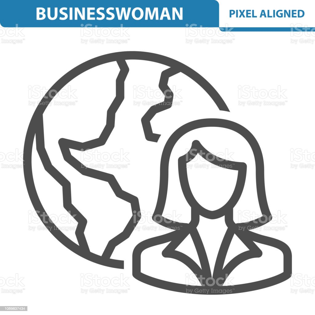 Businesswoman Icon vector art illustration