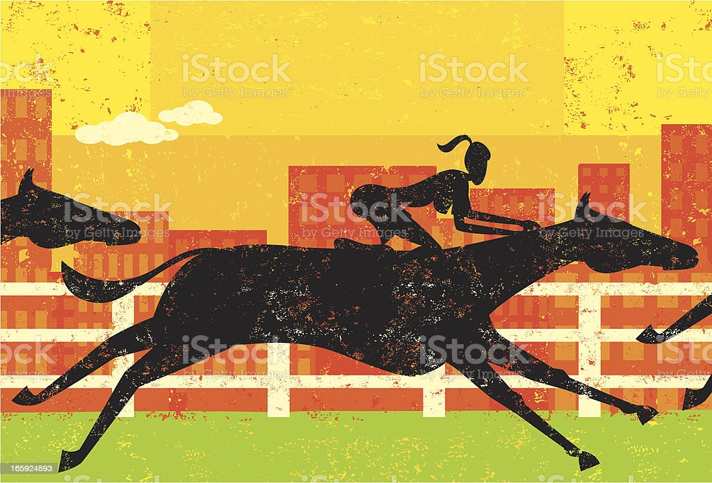 Businesswoman in a horse race royalty-free businesswoman in a horse race stock vector art & more images of achievement