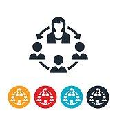 Businesswoman Leadership Icon
