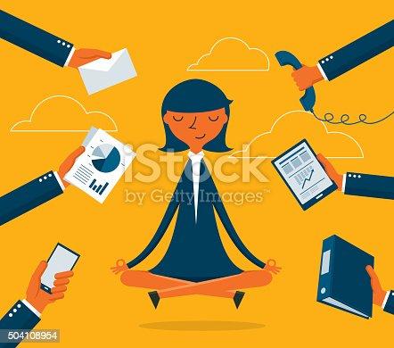 istock Businesswoman Meditation 504108954