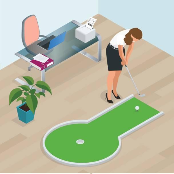 miniature golf illustrations royaltyfree vector graphics