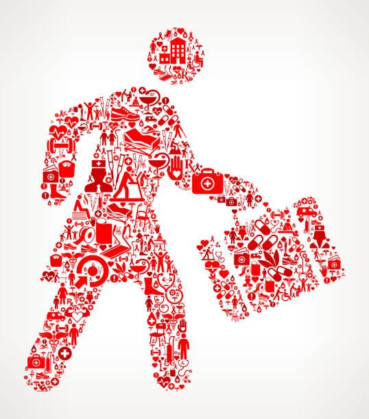 ilustrações de stock, clip art, desenhos animados e ícones de businesswoman traveling medical rehabilitation physical therapy - senior business woman tablet