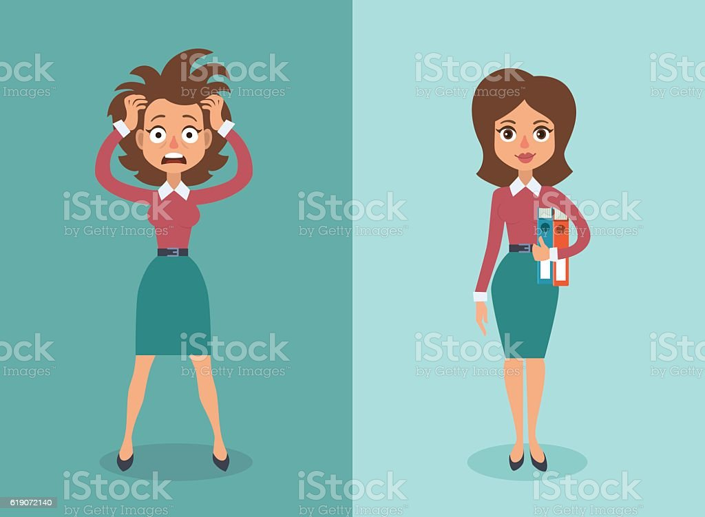 Businesswoman vector art illustration