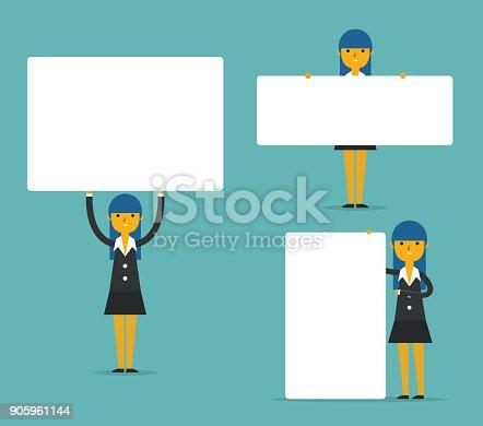 Business Presentation, Concept business vector illustration.