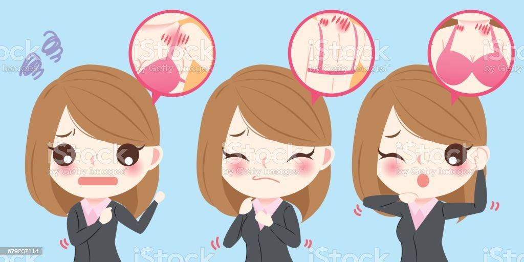 businesswoman with body pain businesswoman with body pain – cliparts vectoriels et plus d'images de adulte libre de droits