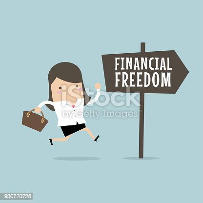istock Businesswoman with Financial Freedom. Business Concept 930720728