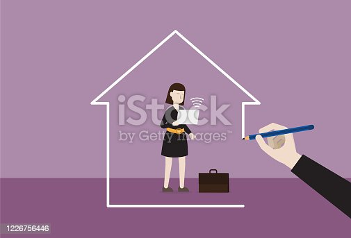 istock Businesswoman working at home 1226756446