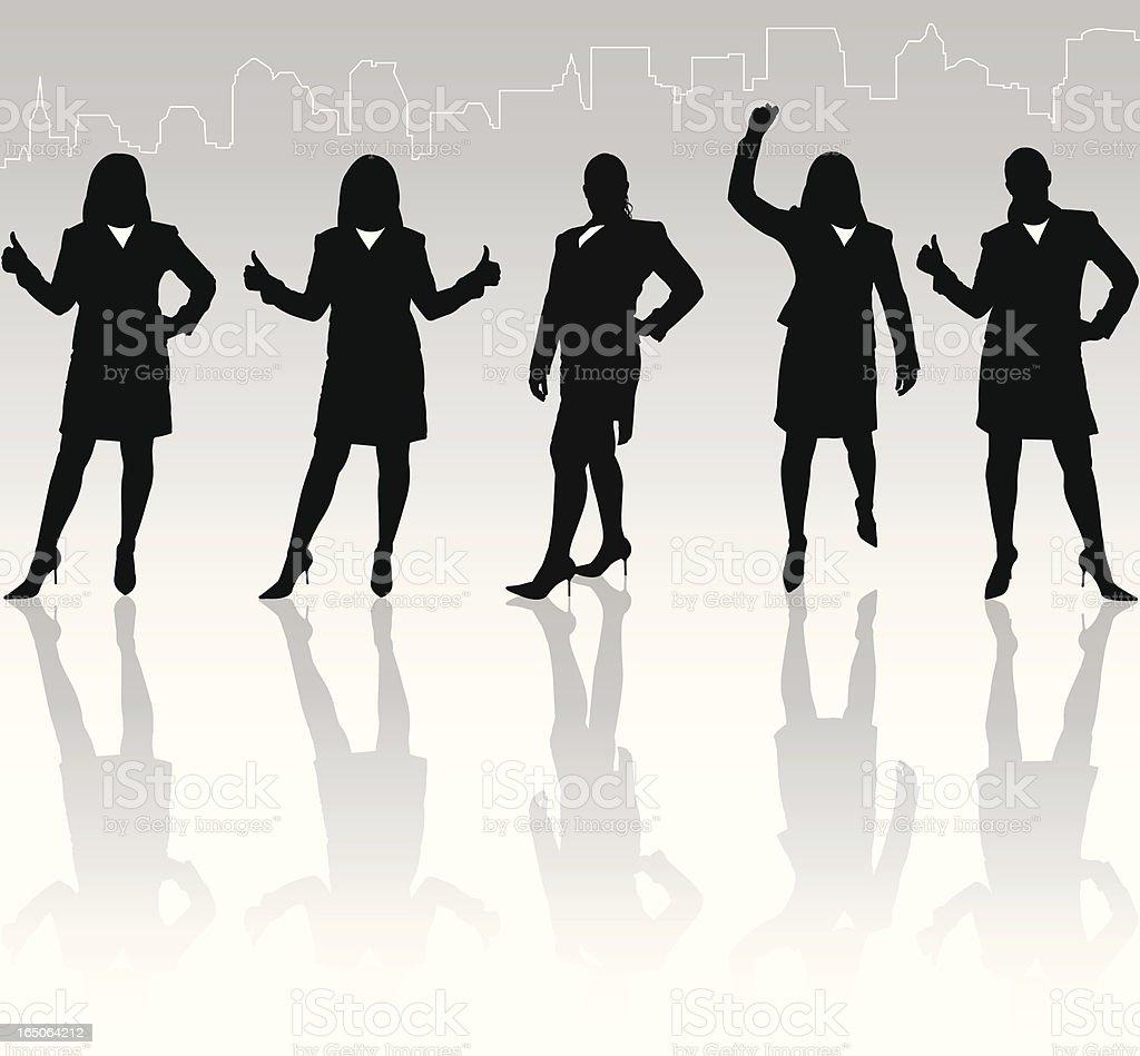Businesswomen Achievement Reflection Series vector art illustration