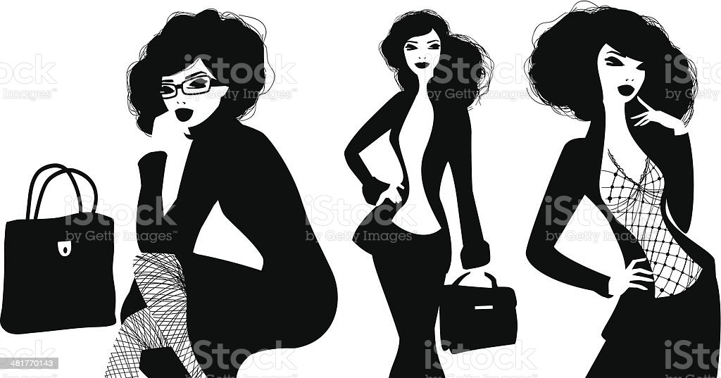 Businesswomen royalty-free stock vector art