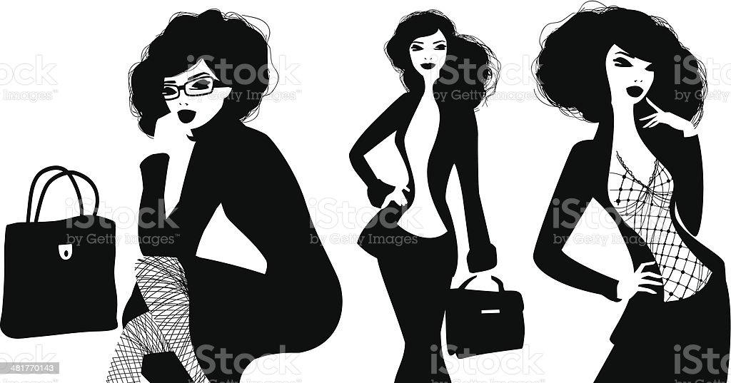Businesswomen vector art illustration