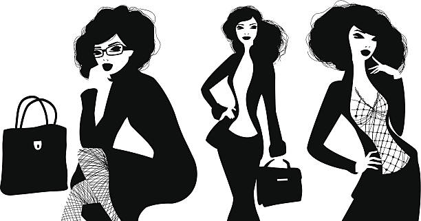 geschäftsfrauen - couture stock-grafiken, -clipart, -cartoons und -symbole