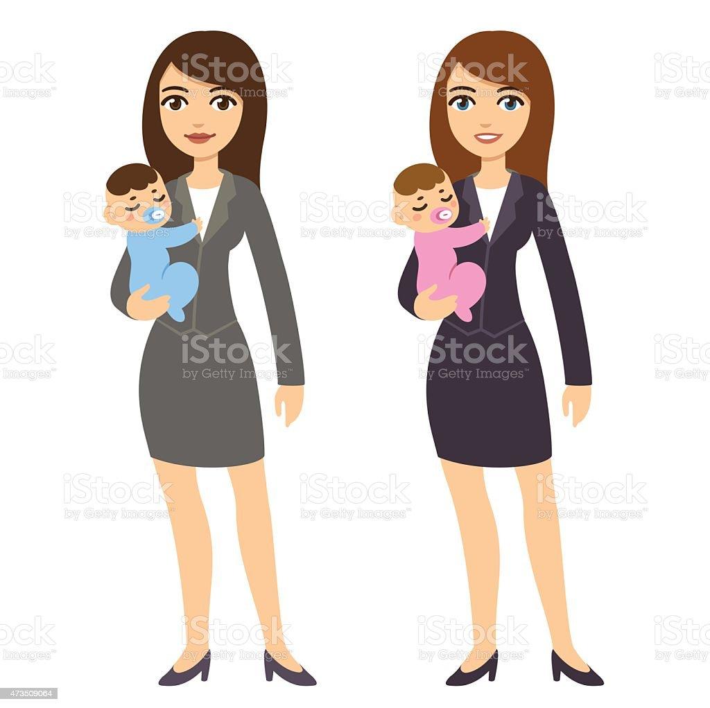 Femmes et bébés - Illustration vectorielle